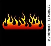 fire icon flames vector... | Shutterstock .eps vector #535088182