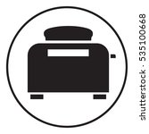 toaster oven icon | Shutterstock . vector #535100668
