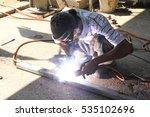 asian labor  weld metal  ... | Shutterstock . vector #535102696