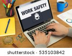 work safety icon concept on... | Shutterstock . vector #535103842