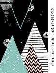 abstract geometric scandinavian ... | Shutterstock .eps vector #535104022