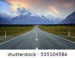 Road Leading To Mount Cook  Ne...