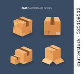 vector set. flat carton box.... | Shutterstock .eps vector #535106512