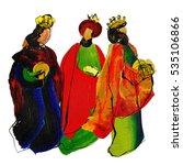 three kings or three wise men.... | Shutterstock . vector #535106866