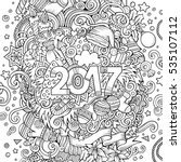 cartoon cute doodles hand drawn ... | Shutterstock .eps vector #535107112
