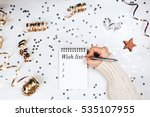 wish lift for new year. holiday ... | Shutterstock . vector #535107955