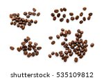 Coffee Beans Isolated On White...