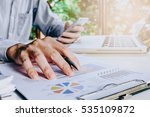 businessman hand working  with... | Shutterstock . vector #535109872