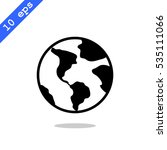 earth icon vector.