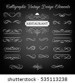 ornate frame restaurant... | Shutterstock . vector #535113238
