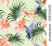 beautiful seamless vector... | Shutterstock .eps vector #535121635
