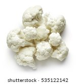 Heap Of Cauliflower Isolated O...