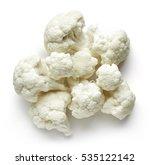 Heap Of Cauliflower Isolated O...