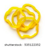 Bell Pepper Slices Isolated On...