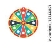 colorful fortune wheel with... | Shutterstock .eps vector #535123876