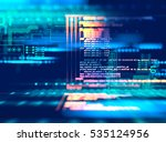 Stock photo programming code abstract technology background of software developer and computer script 535124956