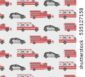 Seamless Pattern Of The Fire...