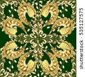 vintage pattern on green... | Shutterstock .eps vector #535127575