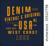 denim usa print for t shirt or... | Shutterstock .eps vector #535127758