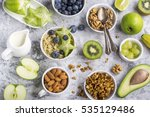 ingredients for a healthy...   Shutterstock . vector #535129486