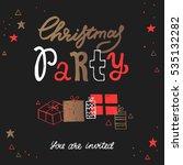 vector christmas party... | Shutterstock .eps vector #535132282