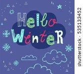 vector christmas party... | Shutterstock .eps vector #535133452
