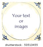 Dutch Delft blue tile with room for your text or images - stock photo