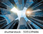 big city skyscrapers background ... | Shutterstock . vector #535139686