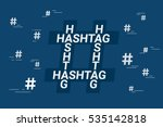 hashtag concept symbol with... | Shutterstock .eps vector #535142818