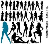 collection of model woman vector | Shutterstock .eps vector #5351446