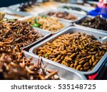 fried insects on the streets of ... | Shutterstock . vector #535148725