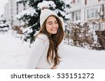 portrait joyful young woman... | Shutterstock . vector #535151272