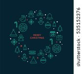 merry christmas flat element... | Shutterstock .eps vector #535152376