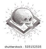 skull illustration with... | Shutterstock .eps vector #535152535