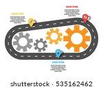 asphalt road infinity with... | Shutterstock .eps vector #535162462