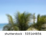 abstract caribbean palm tree... | Shutterstock . vector #535164856