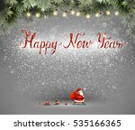 happy new year hand drawn red... | Shutterstock .eps vector #535166365