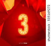 golden glowing vector number on ... | Shutterstock .eps vector #535169272