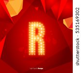 golden glowing vector font on... | Shutterstock .eps vector #535169302