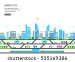 modern city illustration in... | Shutterstock .eps vector #535169386