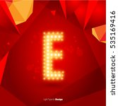 golden glowing vector font on... | Shutterstock .eps vector #535169416