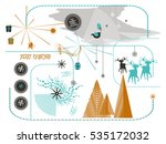new year and christmas flat... | Shutterstock .eps vector #535172032