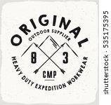 original outdoor print for t... | Shutterstock .eps vector #535175395