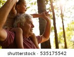 grandfather giving... | Shutterstock . vector #535175542