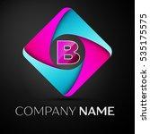 letter b vector logo symbol in... | Shutterstock .eps vector #535175575