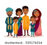 big happy indian family in... | Shutterstock .eps vector #535176316