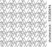 monochrome pattern with various ... | Shutterstock .eps vector #535180696