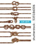 rope knots set of different... | Shutterstock .eps vector #535186006