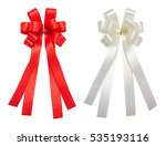 red and white bow tale glossy... | Shutterstock . vector #535193116