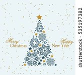 christmas tree from beautiful...   Shutterstock . vector #535197382